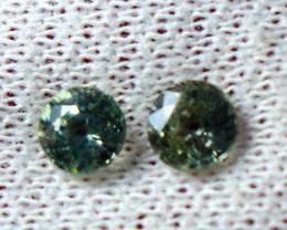 1.90 CT Natural - Unheated Blue Sapphire Gemstone Pair