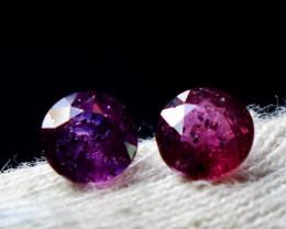 2 CT Natural - Unheated Pink Sapphire Gemstone Pair