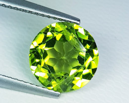 4.28 ct  Top Quality  Round Cut Top Luster Natural Peridot