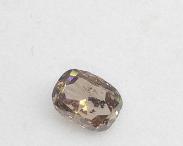 0.46ct Fancy pinkish Brown   Diamond , 100% Natural Untreate