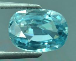 3.83 Cts Blue Zircon Exceptional Color ~ Cambodia RZ26
