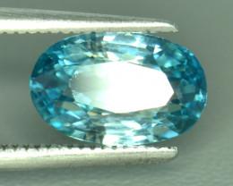 3.18 Cts Blue Zircon Exceptional Color ~ Cambodia RZ29