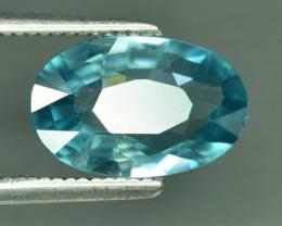 3.06 Cts Blue Zircon Exceptional Color ~ Cambodia RZ31