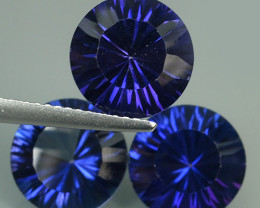 13.20 CTS SUPERIOR! TOP ROUND CUT PURPLE COLOR-TOPAZ GENUINE NR!!