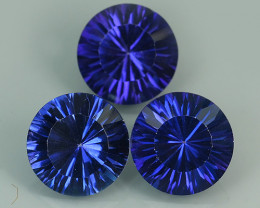 12.75 CTS SUPERIOR! TOP ROUND CUT PURPLE COLOR-TOPAZ GENUINE NR!!