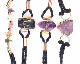 4 x Raw Rock Gemstones Bracelet - BR 957