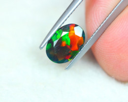 1.07ct Ethiopian Welo Solid Black Smoked Faceted Opal Lot V5063