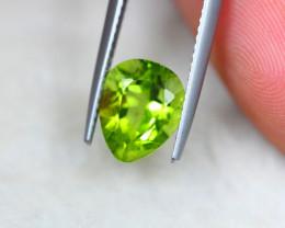 3.38ct Green Peridot Pear Cut Lot V5068