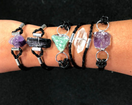 5 x Raw Rock Gemstones Bracelet - BR 968