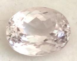 Pretty 3.65ct Pale Pinkish Peach Oval Morganite - Ref H690