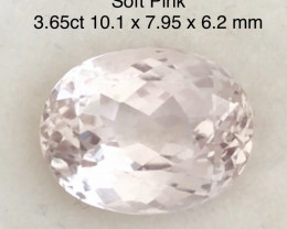 Pretty 3.65ct Soft Pink Oval Morganite - Ref H690