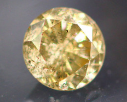 Diamond 0.28Ct Natural Fancy Champagne Color Round Diamond 16CF51