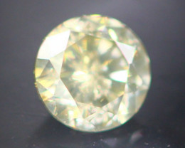 Diamond 0.26Ct Natural Fancy Champagne Color Round Diamond 16CF52