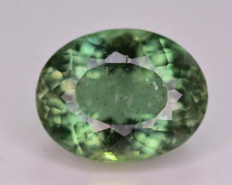Amazing Color 3.30 Ct Natural Green Apatite. ARA