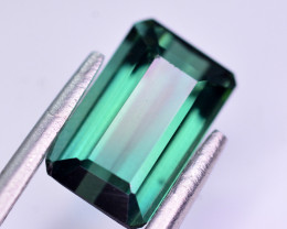 Superb Color 2.10 Ct Bluish Green Tourmaline From Afghanistan. RA
