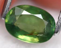 Green Sapphire 1.11Ct Natural Green Sapphire E1901