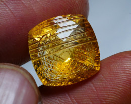 11.15CRT AMAZING CUT N CARVING YELLOW CITRINE-