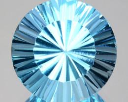 2.69 Cts Natural Sky Blue Topaz 9mm Round Concave Cut Brazil