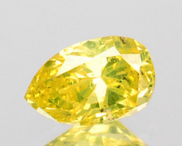 0.06 Cts Natural Diamond Fancy Yellow Pear Cut Africa