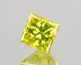 ~PRINCESS~ 0.08 Cts Natural Diamond Golden Yellow Square Cut Africa