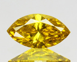 0.10 Cts Natural Diamond Golden Yellow Marquise Cut Africa