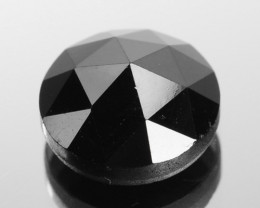 0.94 Cts Natural Coal Black Diamond 6.3mm Round (Rose Cut) Africa