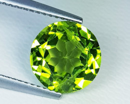 2.71 ct  Top Quality Gem  Round Cut Top Luster Natural Peridot