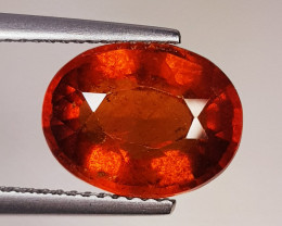 5.20 ct Top Quality Gem Oval Cut Top Luster Hessonite Garnet