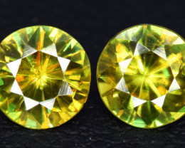 1.35 Carats Round Full Fire Sphene Titanite Gemstone From Pakistan