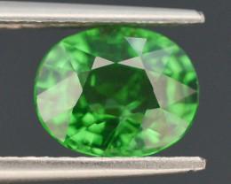 IGA Certified AAA Grade 2.060 ct Forest Green Tsavorite Garnet
