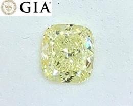 1.51 ct GIA Certified Diamond - Light Yellow - $6850