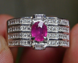 23.80 CT Pretty Natural Ruby Gemstone Ring Jewelry