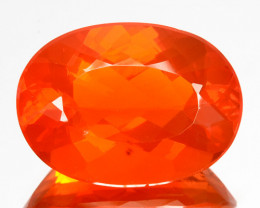 8.93 Cts Natural Top Orange Fire Opal Oval Mexico Gem (Video Avl)