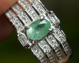 23.35 CT Beautiful Zambian Emerald Ring Jewelry