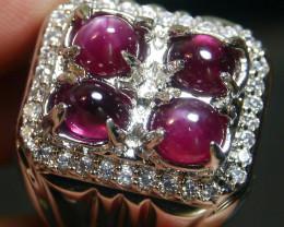 89.45 CT Pretty Natural Star Ruby Gemstone Ring Jewelry