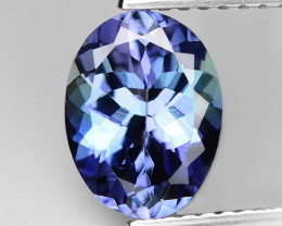 1.72 Cts Violet Blue Color Natural Tanzanite Gemstone