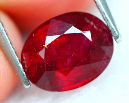 Ruby 2.93Ct Vivid Red Mozambique Red Ruby 19AF792