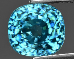 5.89 Cts Blue Zircon Exceptional Color ~ Cambodia ZS2