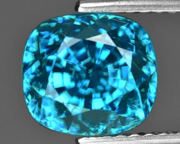 5.93 Cts Blue Zircon Exceptional Color ~ Cambodia ZS5