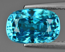 6.21 Cts Blue Zircon Exceptional Color ~ Cambodia ZS8