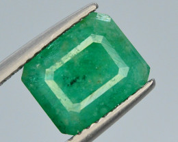 Top Color 2.60 Ct Natural Emerald From Swat