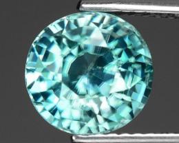 3.76 Cts Blue Zircon Exceptional Color ~ Cambodia RZ14