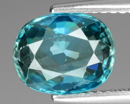 3.58 Cts Blue Zircon Exceptional Color ~ Cambodia RZ21
