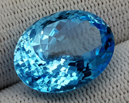 21.85 CT  BLUE TOPAZ  BEST QUALITY GEMSTONE IIGC58