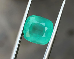 2.10 Ct Natural Greenish Semi Transparent Emerald Gemstone