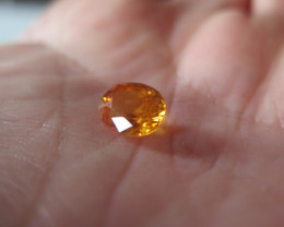 NEW ARRIVAL BIG NATURAL ORANGE SAPPHIRE 3.34cts  VVS SRI LANKA