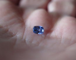NEW ARRIVAL CERTIFIED  NATURAL BLUE SAPPHIRE 0.57ct  VVS SRI LANKA