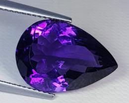 10.00 ct  Top Quality Gem  Superb Pear Cut Natural Purple Amethyst