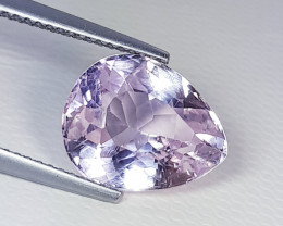 5.55 ct Top Quality  Stunning Pear Cut Natural Pink Kunzite