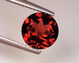 2.12 ct Top Quality Gem Round Cut Top Luster Rhodolite Garnet
